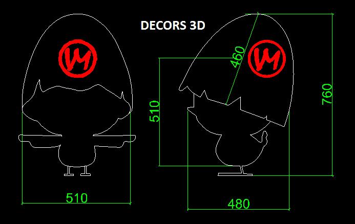 decor 3d transparent